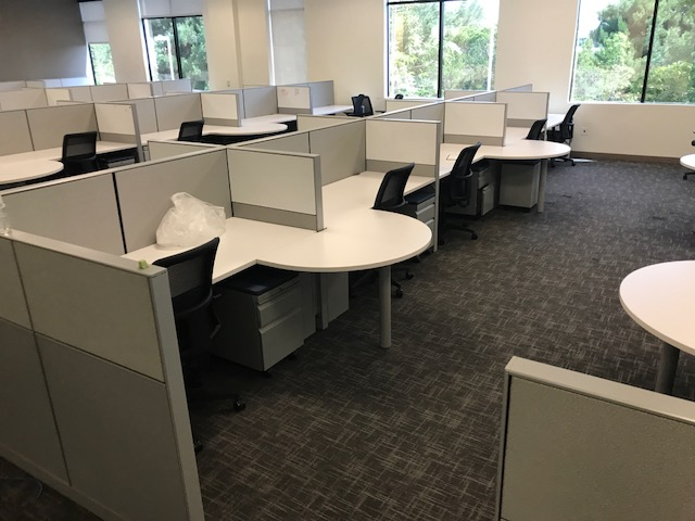 Hon Half Round Workstations Ca Office Liquidators