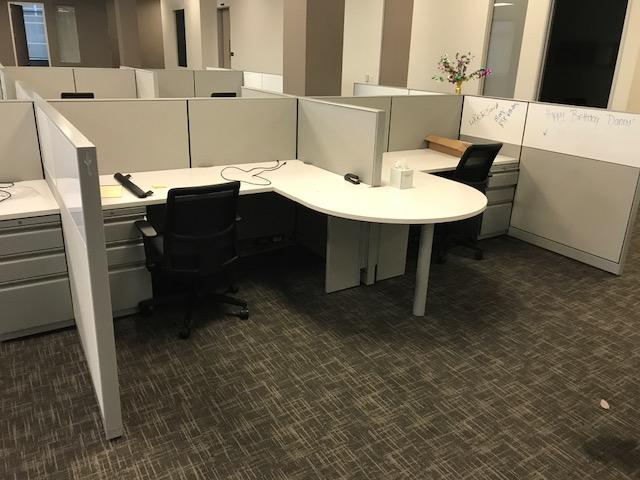 Hon Half Round Workstations Ca Office Liquidators